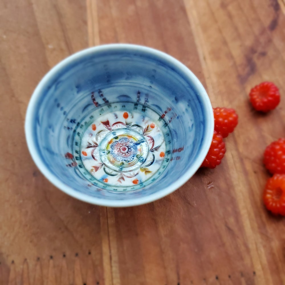 Image of Teeny Tiny Cobalt Mandala Porcelain Bowl