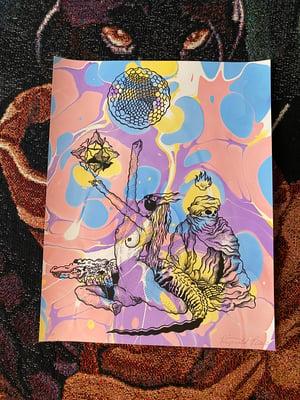 Image of 'Gator Mystics' marbled print
