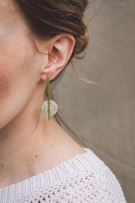 Image of New statement hemp drop earrings .