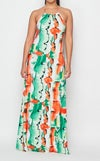Tropical Garden Maxi Dress