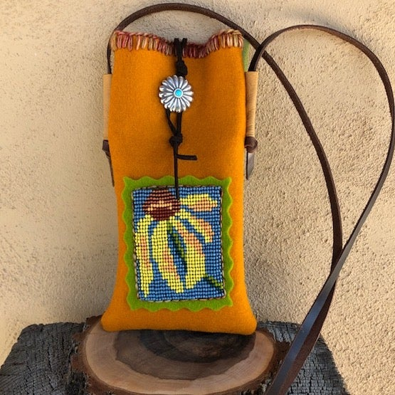 Image of Cone Flower Cell Phone Pouch