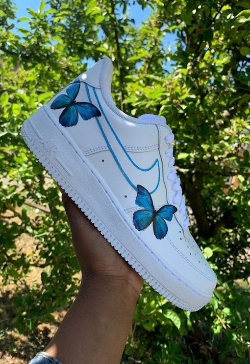 Nike Air Force 1 Blue Butterfly blue