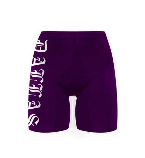 Image of DALLAS PURPLE BIKE SHORTS