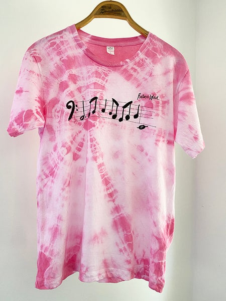 Image of Bass Line T-shirt Tie-Dyed Flamingo