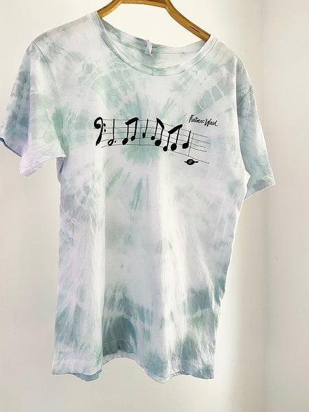 Image of Bass Line T-shirt Tie-dyed Sea Mist