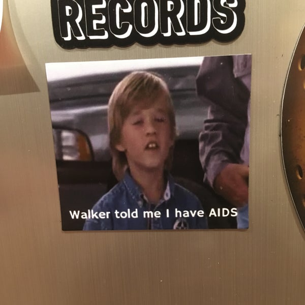 "Image of ""Walker told me I have AIDS"" Magnet"