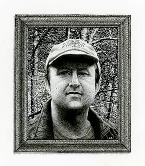 Image of Daniel Woodrell ink original