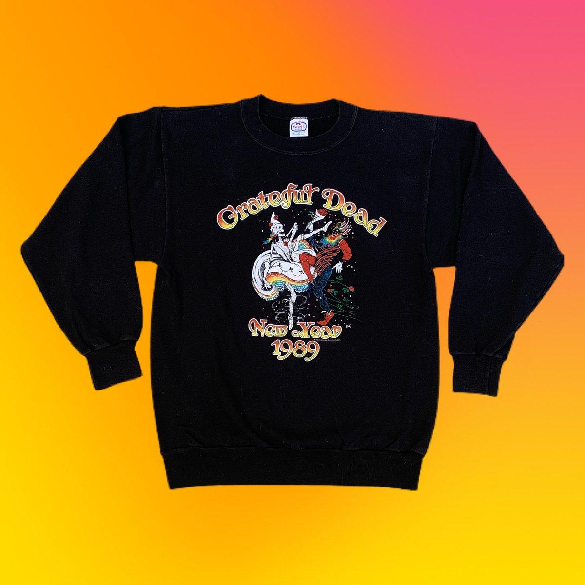Original Vintage Grateful Dead 1989 NYE Long Sleeve Crewneck Sweatshirt! LARGE