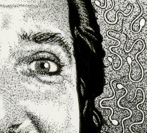 Image of RON JEREMY ink original