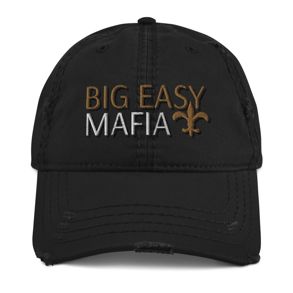 Image of Big Easy Mafia Distressed Hat (BlacK)