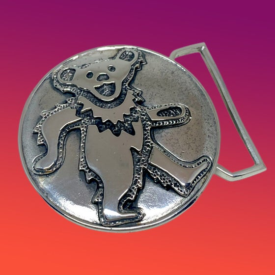 Image of Dancing Bear Buckle Cast in White Brass