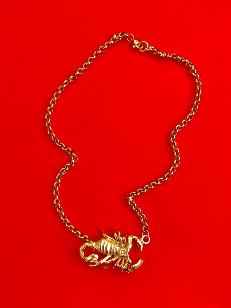 Image of GOLD SCORPION CHOKER