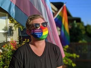Image of Bellingham Pride Flag Mask