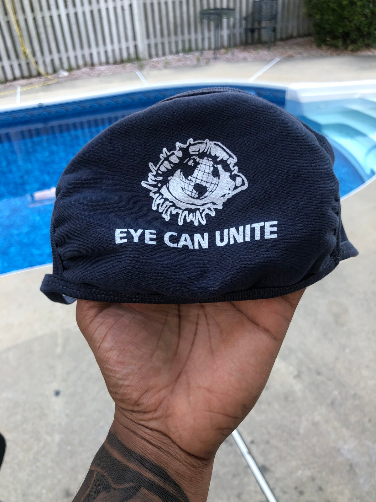 Image of EYE CAN UNITE Cotton Facemask