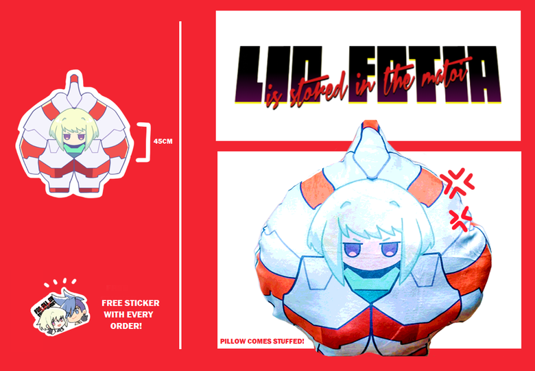Image of Lio is Stored in the Matoi 45cm Soft Plush Pillow