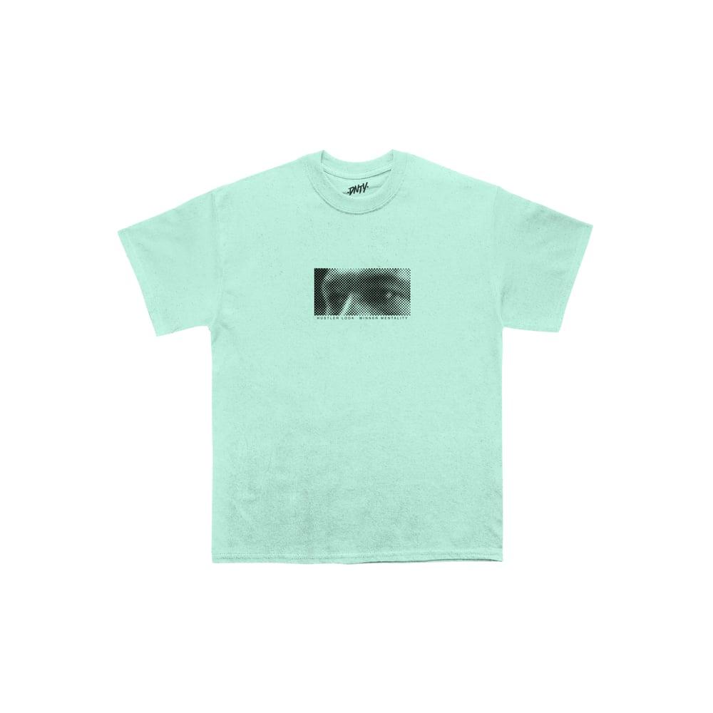 T-shirt HUSTLER LOOK millenial mint