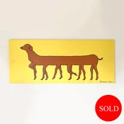 Image of Long Dog Canvas Painting