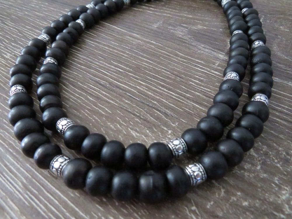 Image of Mala Prayer Beads Bone & Horn