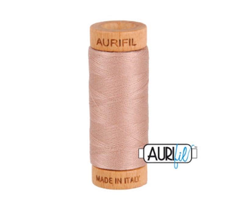 Aurifil 80 wt Cotton Mako Antique Blush