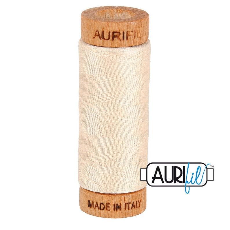 Aurifil 80 Wt. Cotton Mako Cream