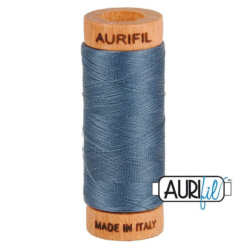 Aurifil 80 wt. Cotton Mako  Blue/Grey