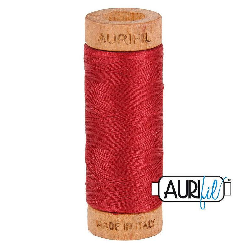 Aurifil 80 wt. Cotton Mako   Burgandy