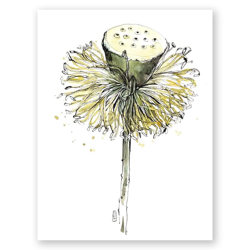 "Image of Original Painting - ""Fruit de lotus"" - 30x40 cm"
