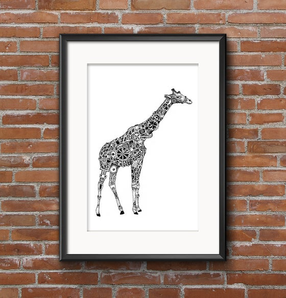 Image of Rafferty The Steampunk Giraffe limited edition signed print