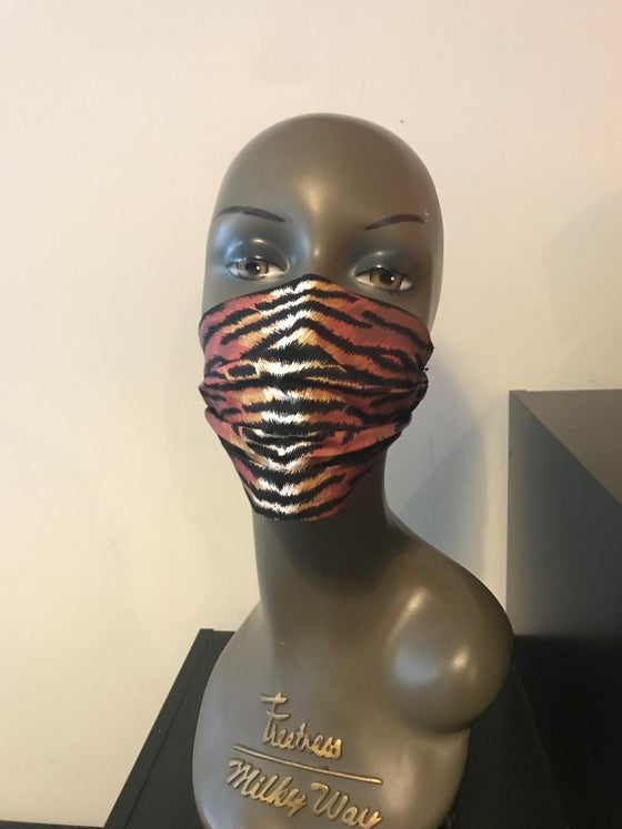 Image of Tiger stripes face mask