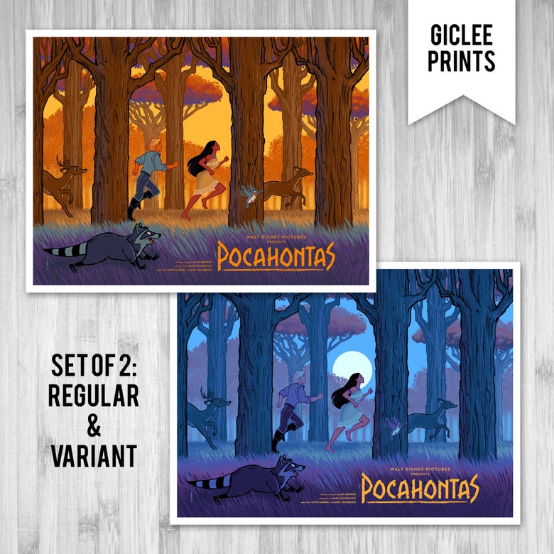 Image of POCAHONTAS SET - GICLÉE - LIMITED EDITION - 24x18