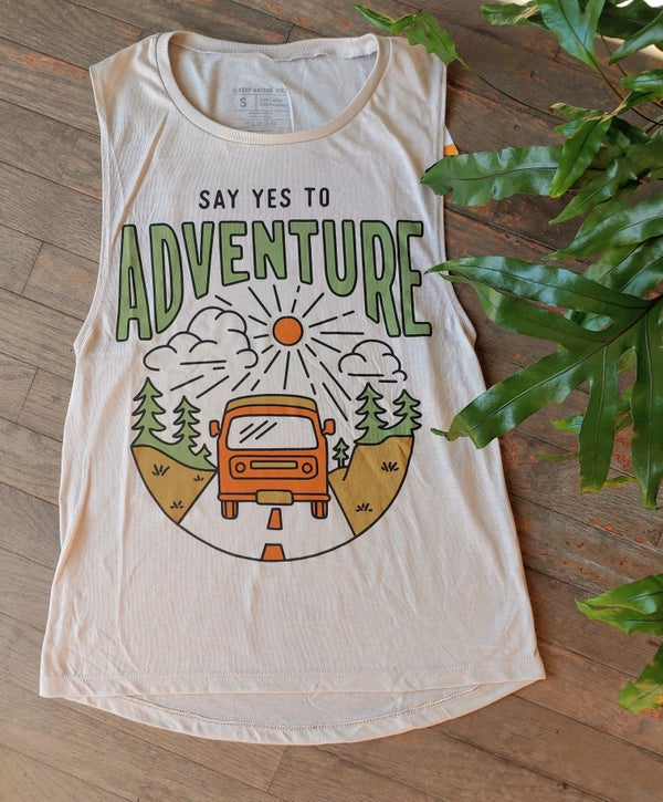 Image of Say Yes To Adventure Muscle Tank