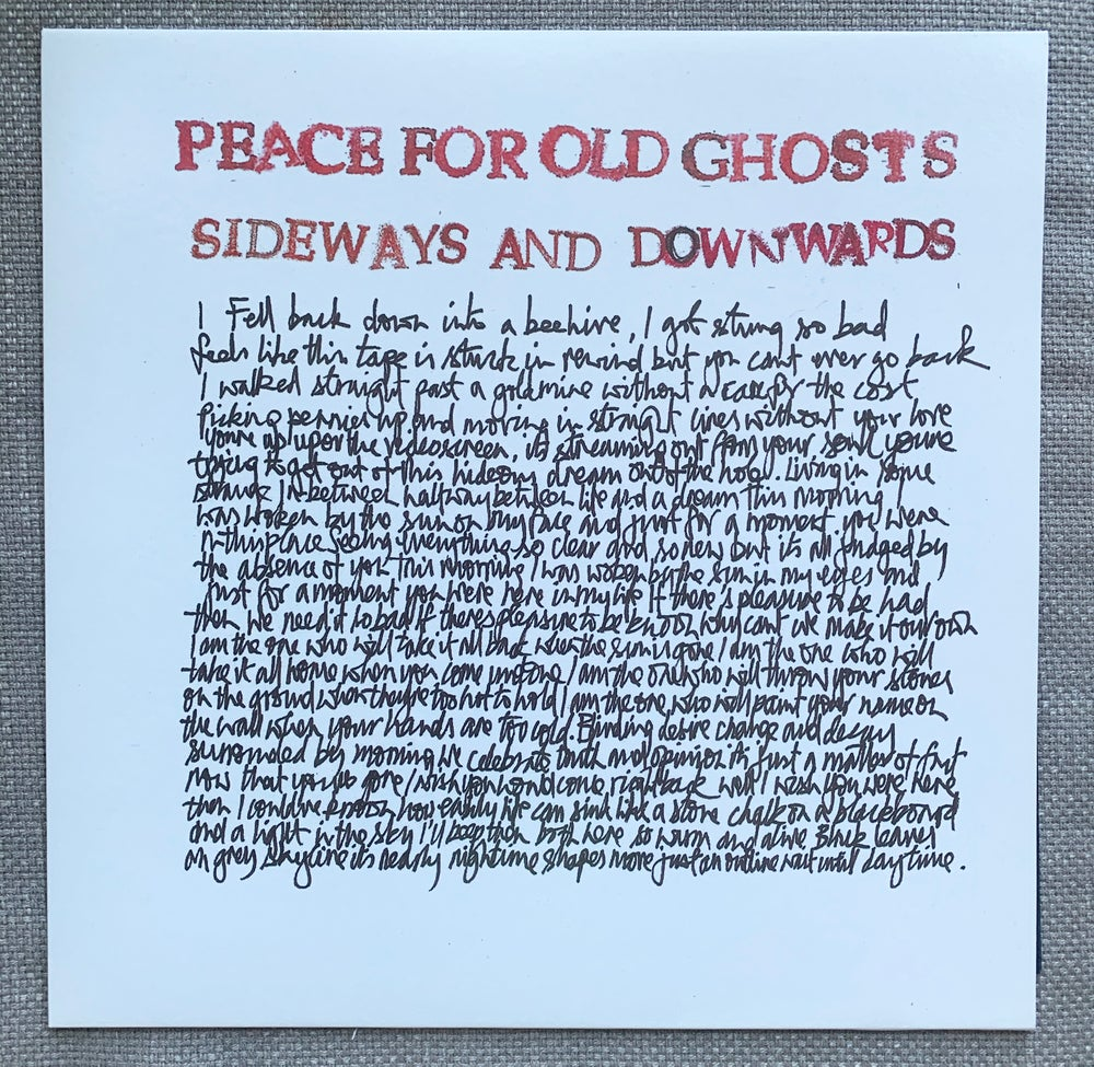 """Peace For Old Ghosts """"Sideways and Downwards"""" LP"""