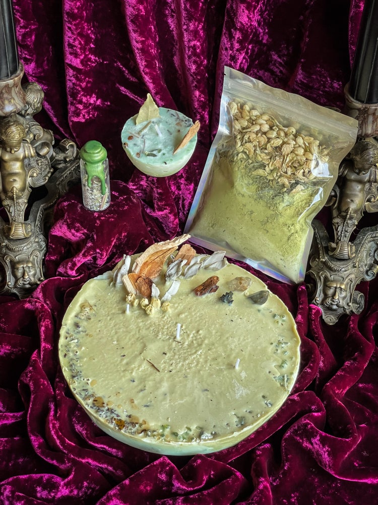 Image of Healing / Detoxing Ritual Candle Ritual Bath Salts & Spell Jars - Ancient Pathways And Traditions