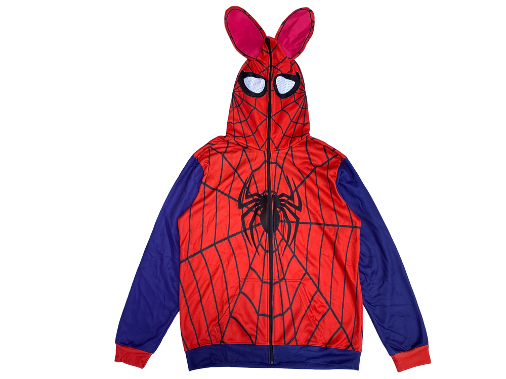 Image of THE AMAZING SPIDERBUNNY FULL-ZIP HOODIE