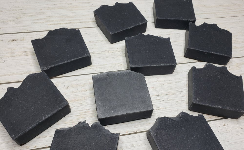 Image of Midnight Streaker Activated Charcoal Unscented Handmade Soap