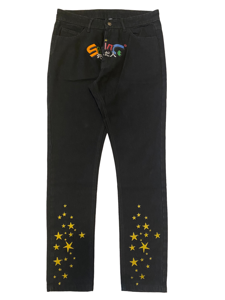 Image of SEEING STARS BLACK DENIM SLIM JEANS