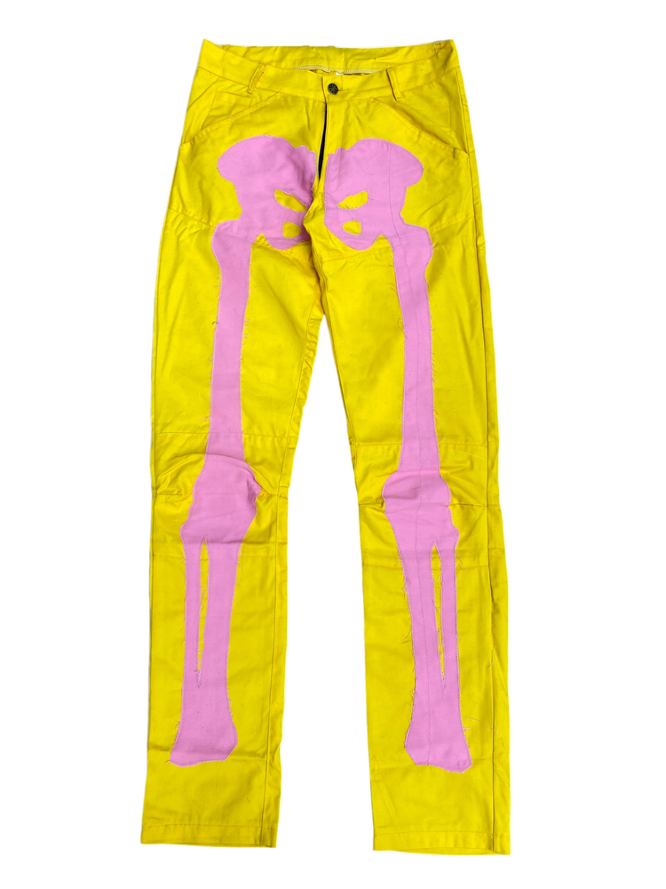 Image of PINK LEMONADE BIKER BONES DENIM JEANS