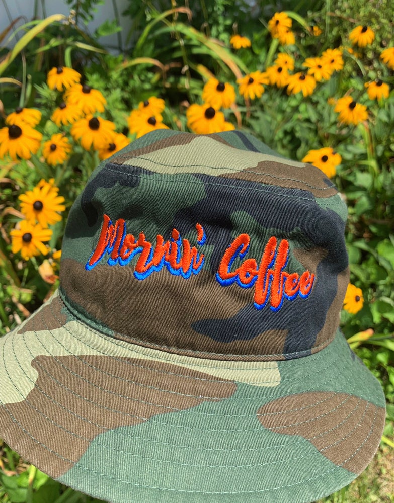 Image of Camo and black NY Inspired Bucket Hats