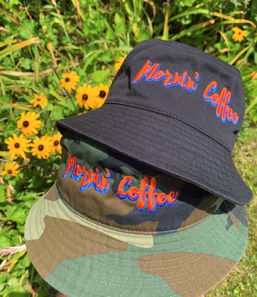 Image of Camo and black NY Inspired Bucket Hats