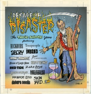Image of DECADE OF DISASTER original blueline art