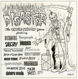 Image of DECADE OF DISASTER ink original + paste-up