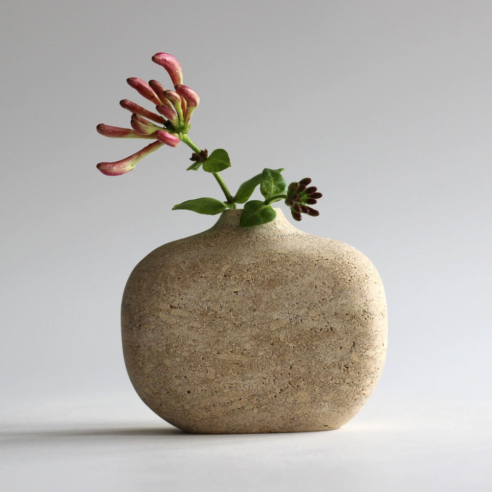 Image of Pebble Vase - Limestone