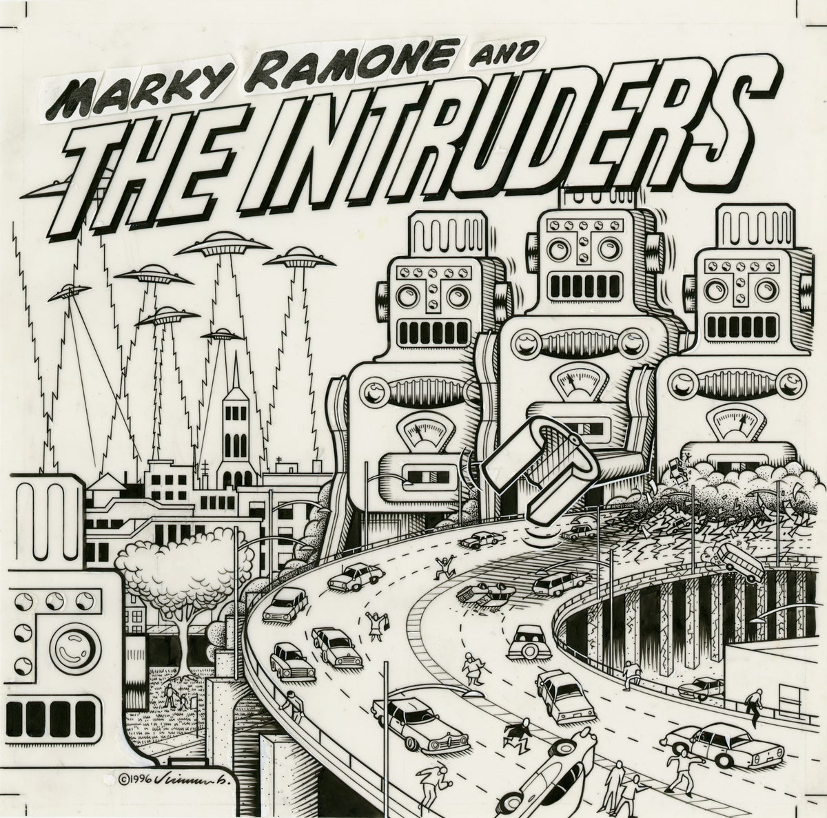 Image of MARKY RAMONE AND THE INTRUDERS ink original
