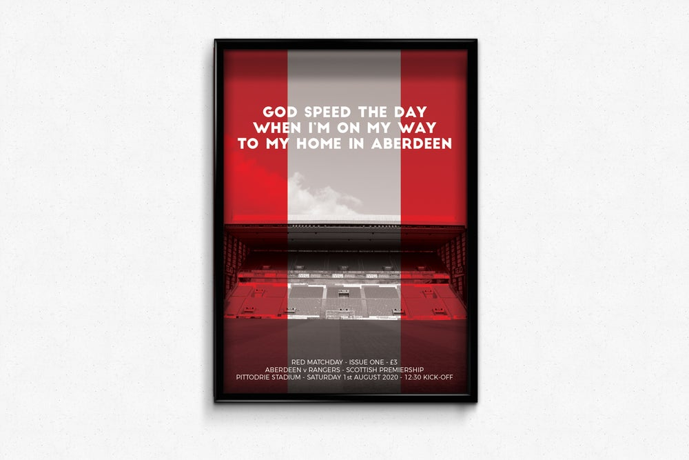 Image of Aberdeen FC Red Matchday Double Print - 2020-2021 Opener