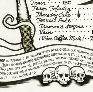 Image of GLAM WARP TABLE OF CONTENTS ink original