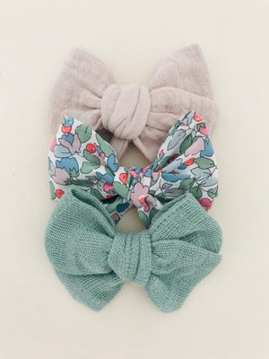 Image of Barrette Liberty Betsy Berry rose & tilleuil