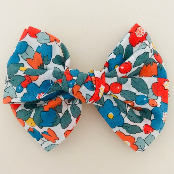 Image of Barrette Liberty Betsy Berry orange & bleu
