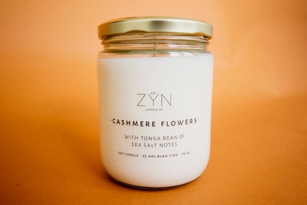 Image of Cashmere Flowers 16 oz Candle