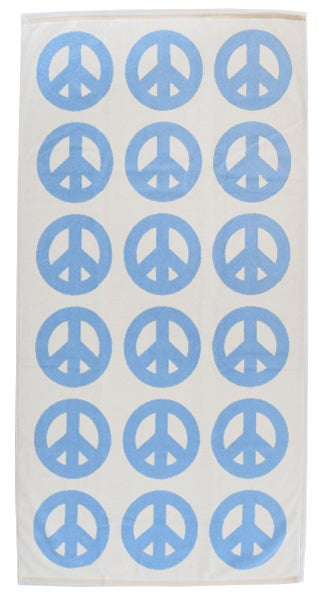 Image of Large Peace Towel <div> Sky & Scour</div>
