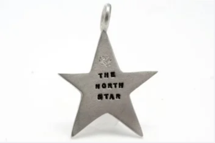 Image of Silver Star with a diamond charms (Lucky Star, The Stars, The North Star, 1,000,000 + 1 Thanks)